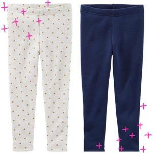 Girls cozy fleece lined leggings bundle size 7